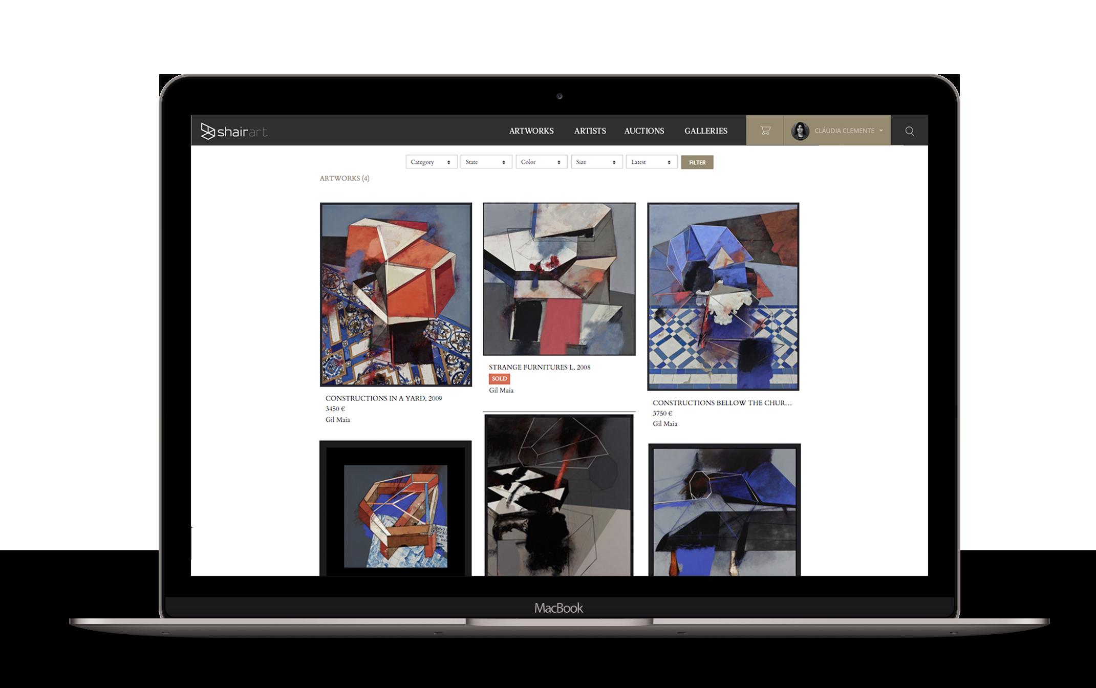 artist profile on macbook 2