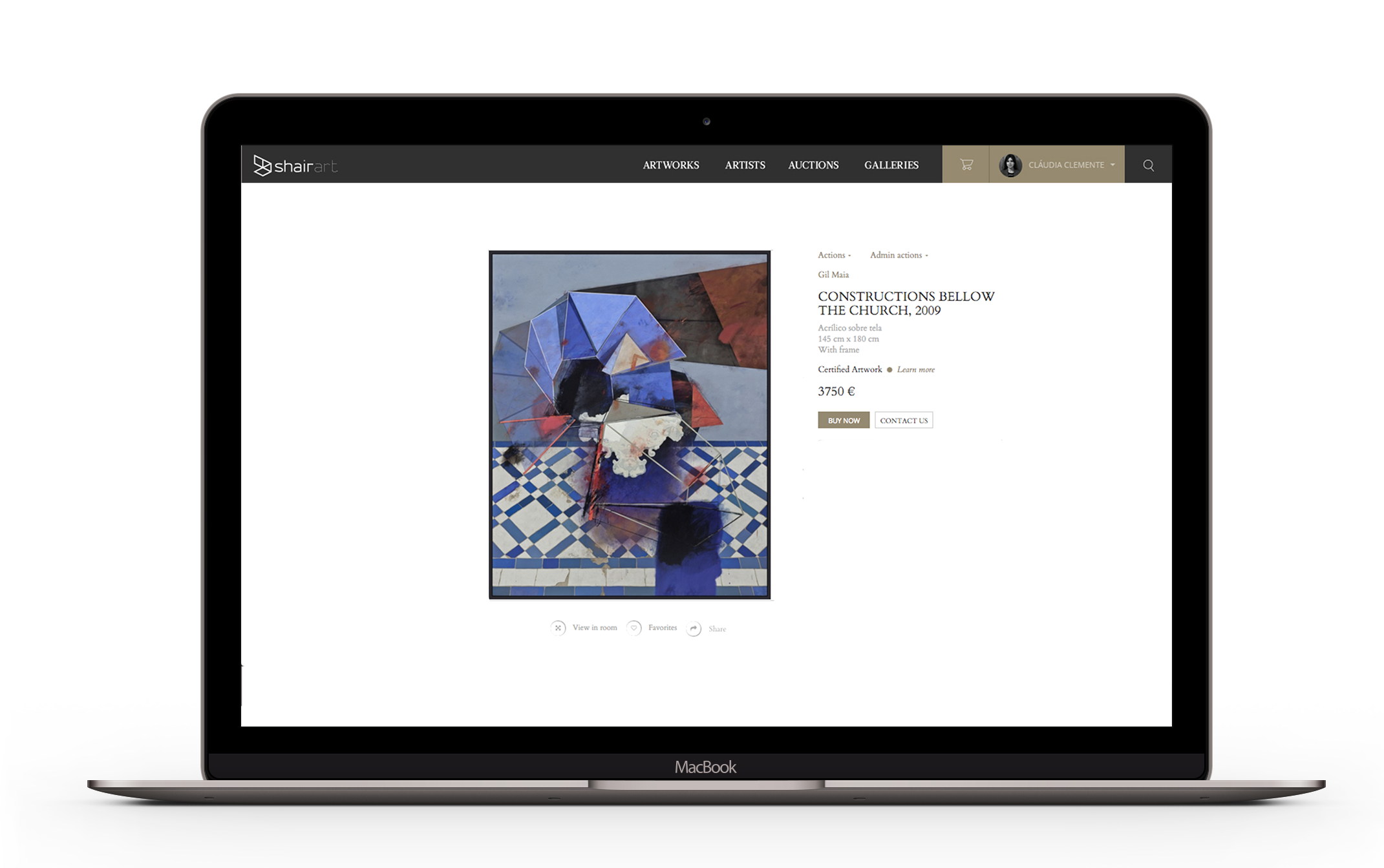 artist profile on macbook 3